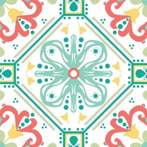 Coral Marrakesh Tile