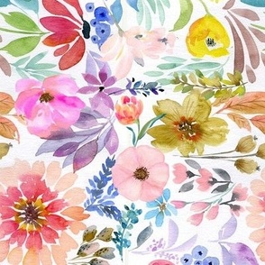 "8"" Summer Watercolor Florals"