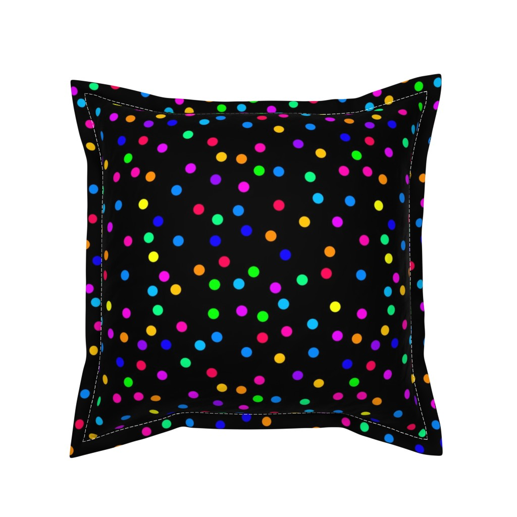 Serama Throw Pillow featuring Confetti on Black (half size) by bravenewart