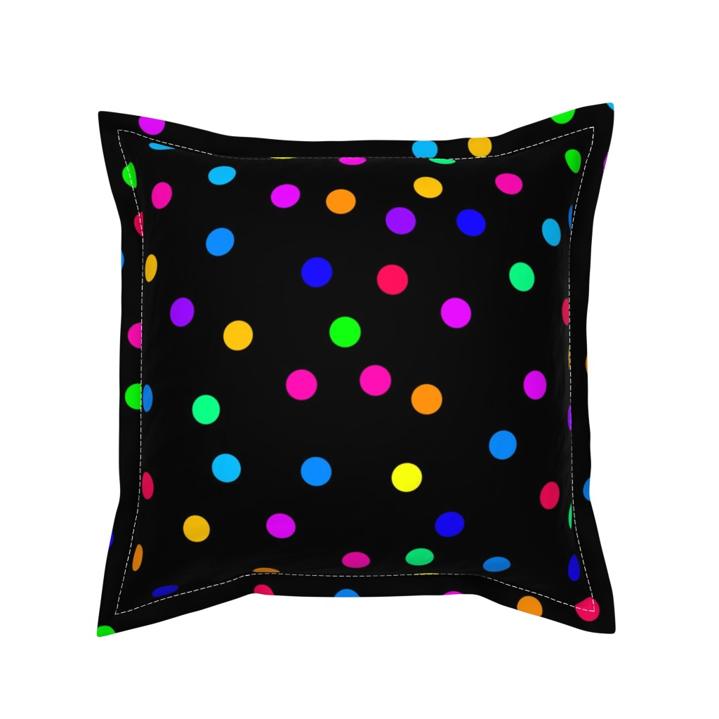 Serama Throw Pillow featuring Confetti on Black (large) by bravenewart