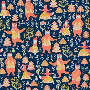Dancing bears and foxes.