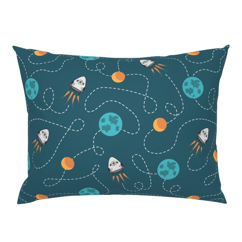 Campine Pillow Sham featuring Dragon 2 moon landing by danadu