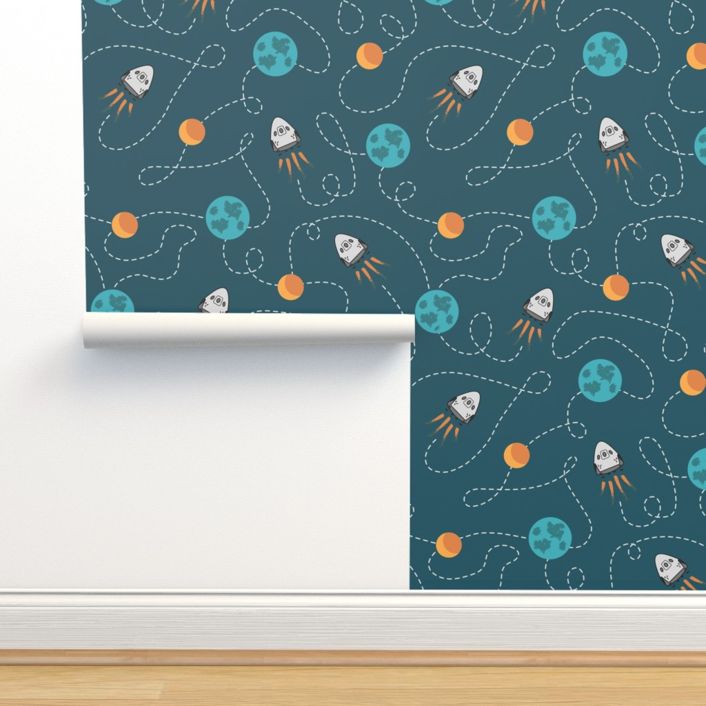 Isobar Durable Wallpaper featuring Dragon 2 moon landing by danadu