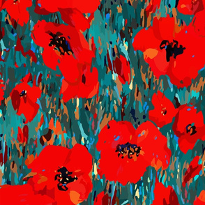 Wild Poppies | Red | Large Scale