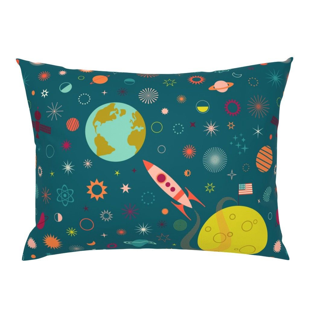 Campine Pillow Sham featuring One Giant Leap for HUmankind by katerhees