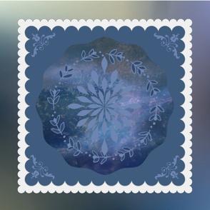Got the Blues Fat Quarter Pillow Designmultiple motifs floral wide border blues plasma 18x21