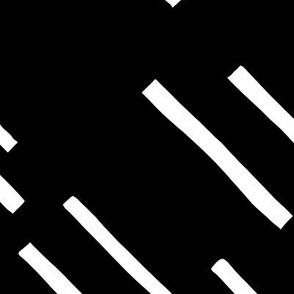 Basic stripes and strokes diagonal rain monochrome circus theme black and white JUMBO