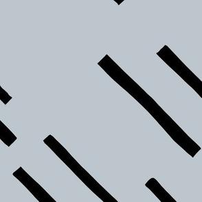 Basic stripes and strokes diagonal rain monochrome circus theme black and white gray JUMBO