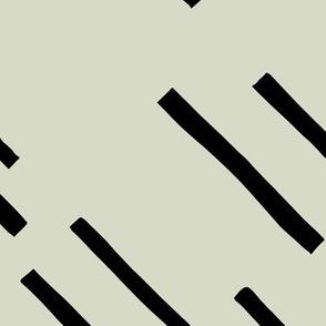Basic stripes and strokes diagonal rain monochrome circus theme black and white green spring JUMBO
