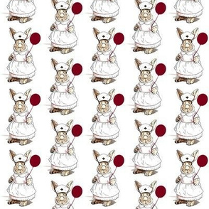 Nurse Bunny with Red Balloon