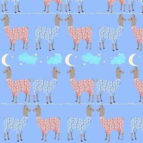 Llamas In PJs With Stars