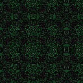 art deco astec velvet green