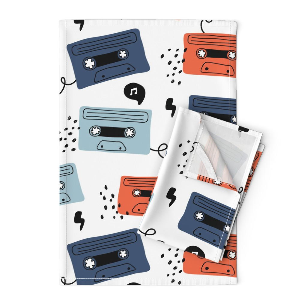 Orpington Tea Towels featuring Retro mood- large scale by yuliia_studzinska