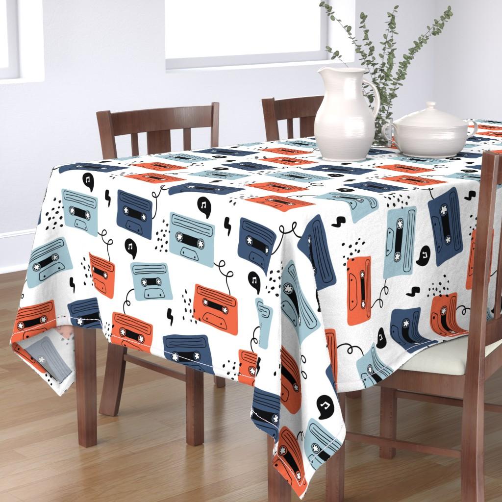 Bantam Rectangular Tablecloth featuring Retro mood by yuliia_studzinska