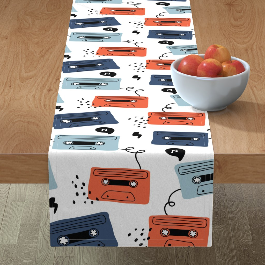 Minorca Table Runner featuring Retro mood- large scale by yuliia_studzinska