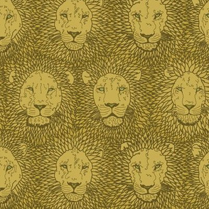 Khaki gold lions