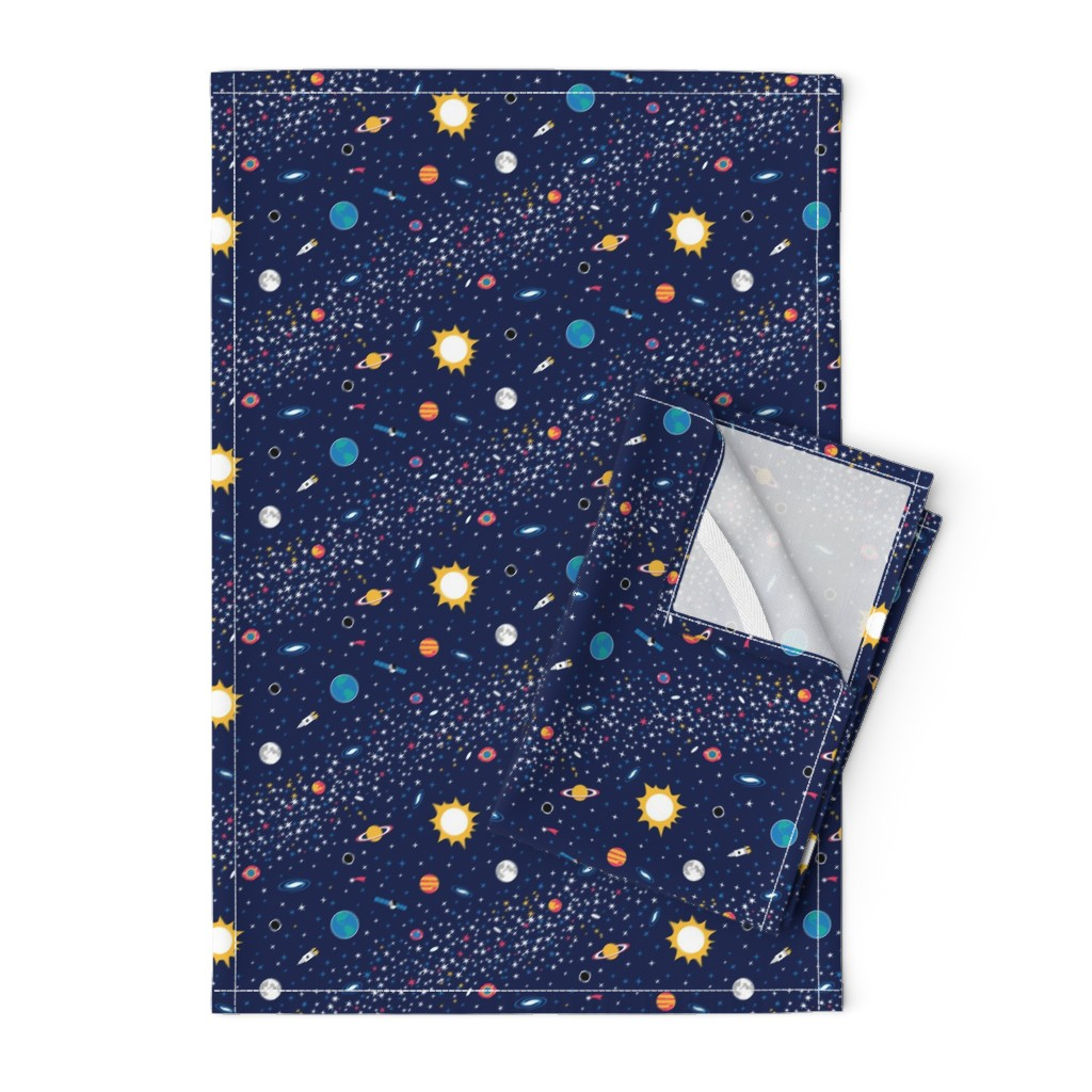 Orpington Tea Towels featuring Milky Way by nadyabasos