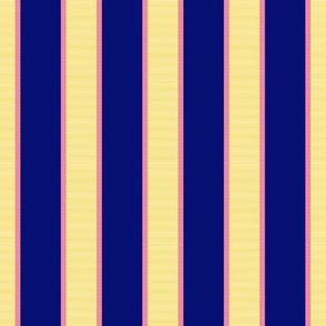 Yellow & Pink Stripe on Dark Purple