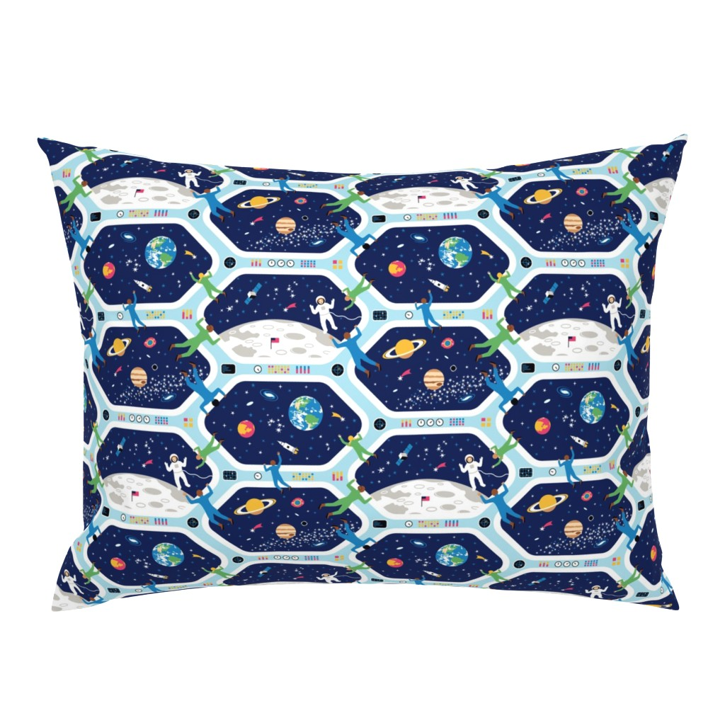 Campine Pillow Sham featuring Clear For Landing by nadyabasos