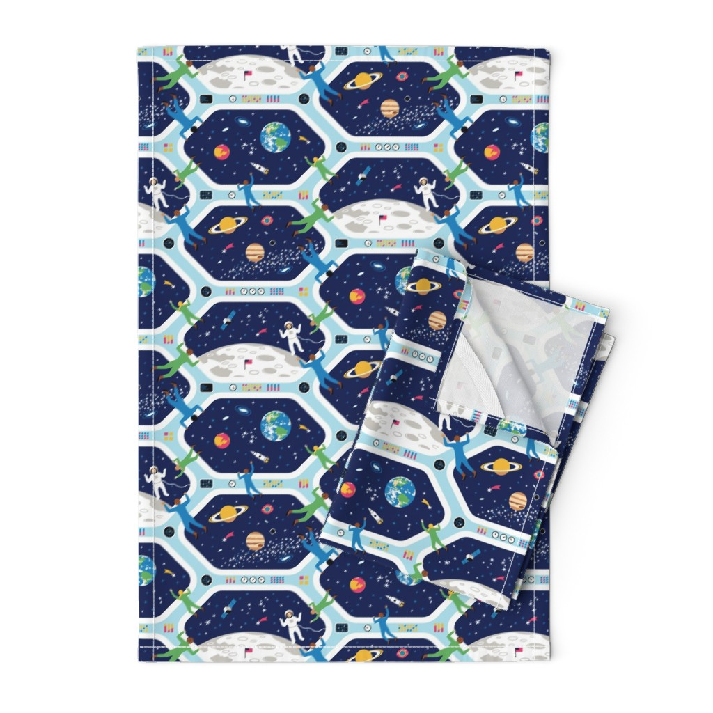 Orpington Tea Towels featuring Clear For Landing by nadyabasos