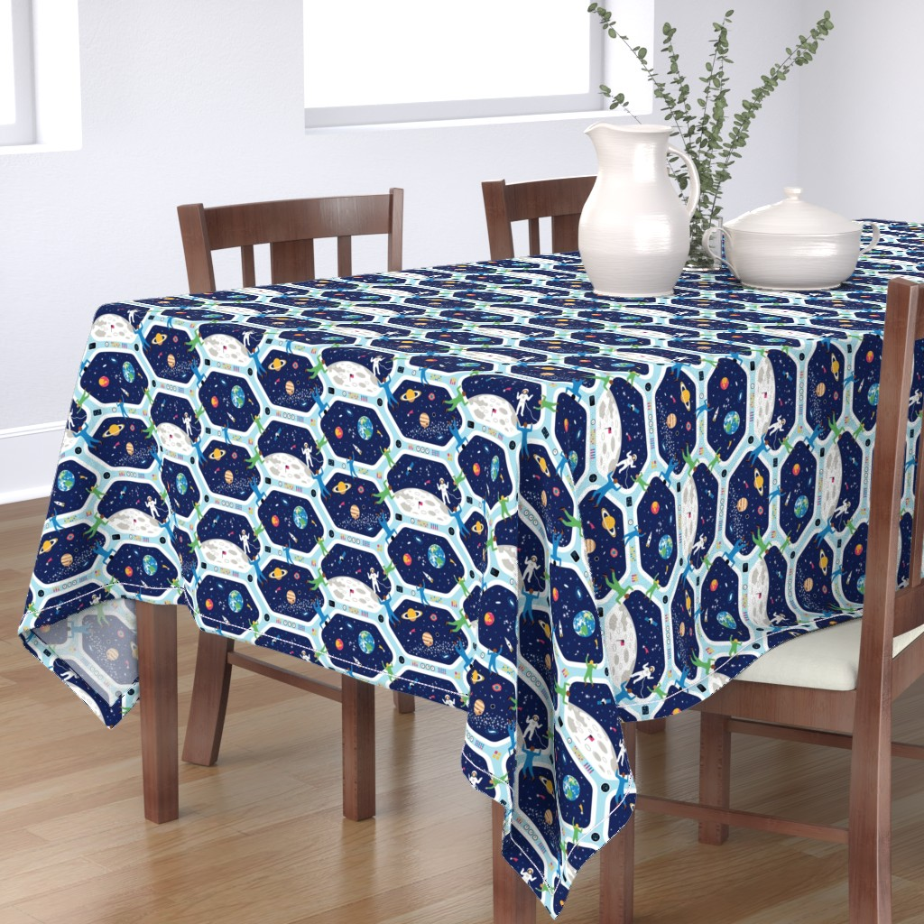 Bantam Rectangular Tablecloth featuring Clear For Landing by nadyabasos