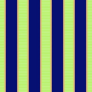 Bright Green & Gold Stripe on Purple