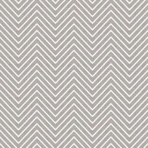 Chevron Chic - Mini - Silver Grey