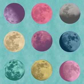 Vintage newspaper moons