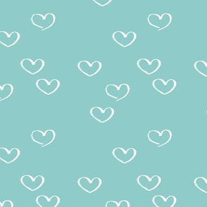 Sweet little love hearts valentine and romantic wedding heart print blue boys