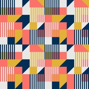 Bauhaus 100 years celebrating coral fabric
