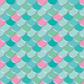 Mermaid Tail - Pink + Mint