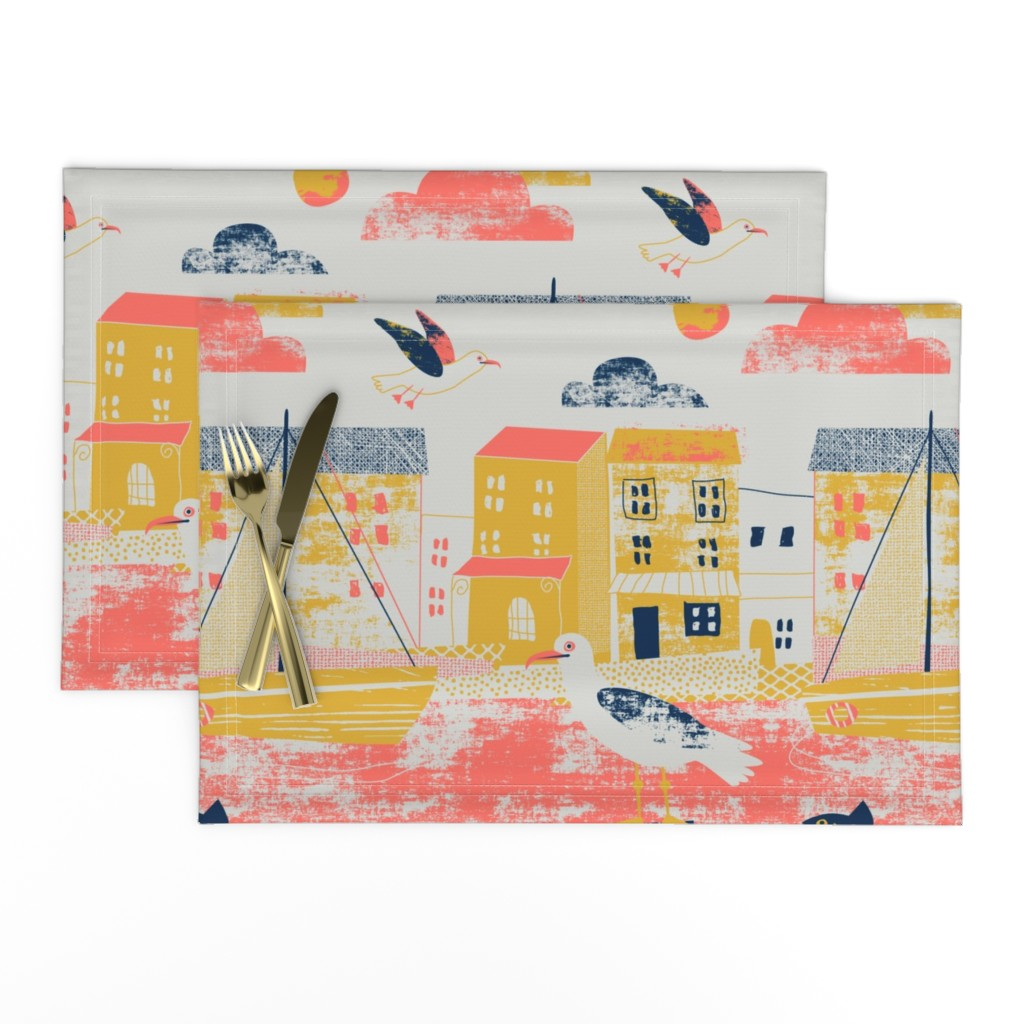 Lamona Cloth Placemats featuring Sea gulls limited colours by Mount Vic and Me by mountvicandme