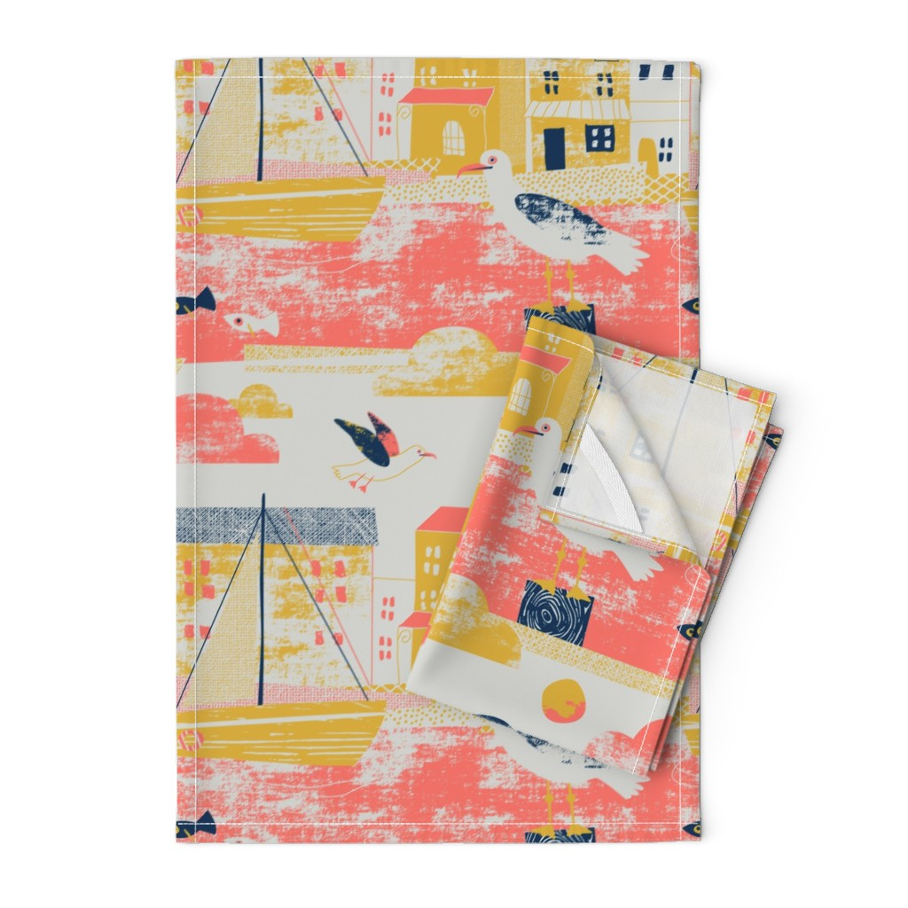 Orpington Tea Towels featuring Sea gulls limited colours by Mount Vic and Me by mountvicandme
