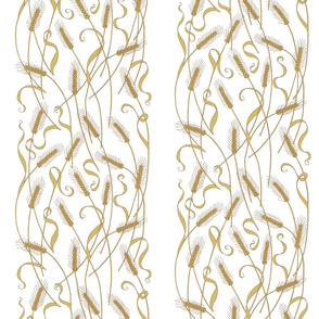 Art Nouveau Wheat wallpaper