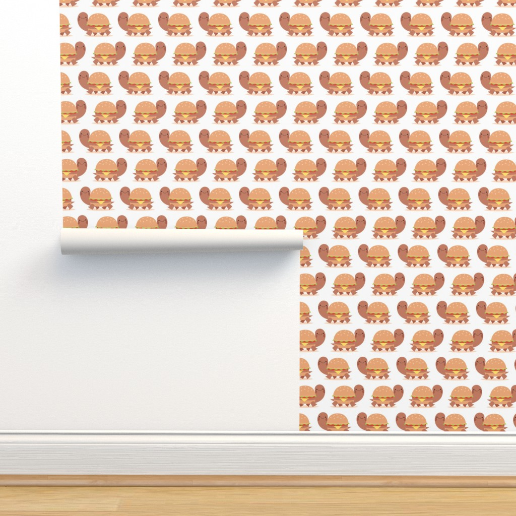 Isobar Durable Wallpaper featuring Burger turtle by petitspixels