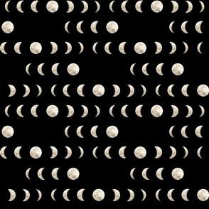 Moon Phases on Black