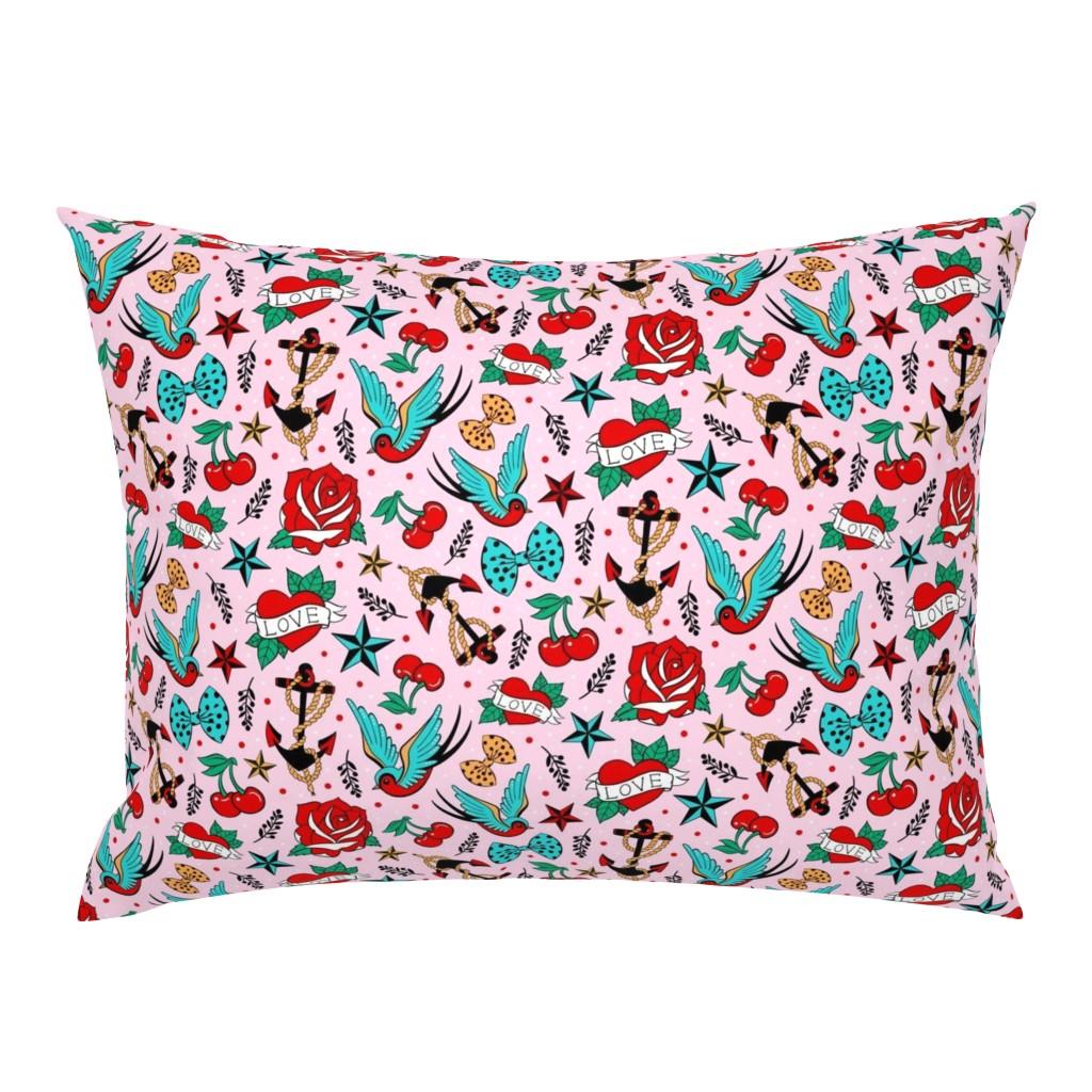 Campine Pillow Sham featuring Rockabilly Love by suzytaylordesigns