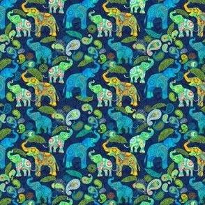 TINY ASIAN ELEPHANTS BLUE
