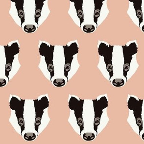 Bart the Badger in blush pink (small)