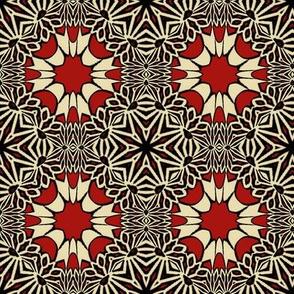 F-Red Flower Tile