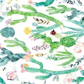 Cactus Garden (white) rotated