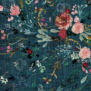 Fable Floral (teal) JUMBO