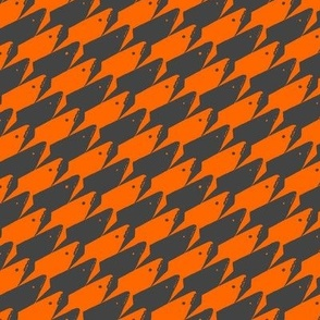 Baby Sharkstooth Sharks Pattern Repeat in Grey and Orange
