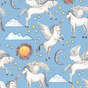Pegasus, Son of Poseidon - light blue