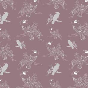 Pink_Bird_leaves_Stock