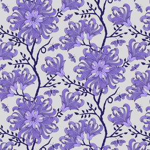 Butterfly floral lavender