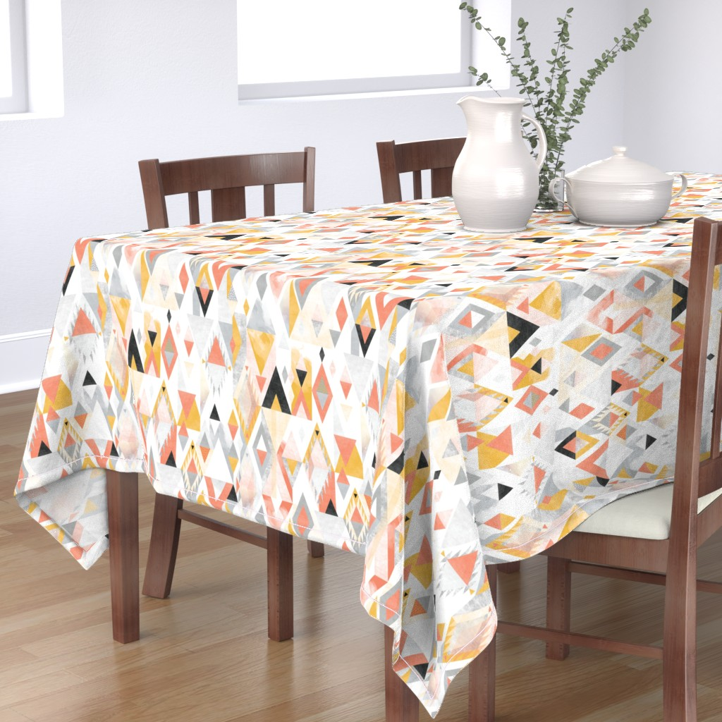 Bantam Rectangular Tablecloth featuring Desert Modernism by Mount Vic and Me by mountvicandme