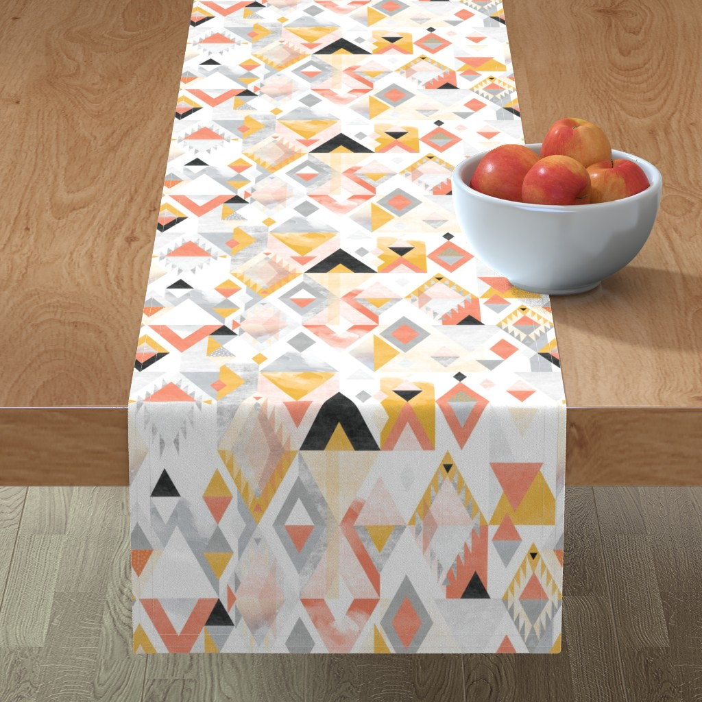 Minorca Table Runner featuring Desert Modernism by Mount Vic and Me by mountvicandme