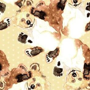 19-01R Teddy Bear Watercolor _ Miss Chiff Designs