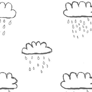rain clouds / nursery baby kids simple design